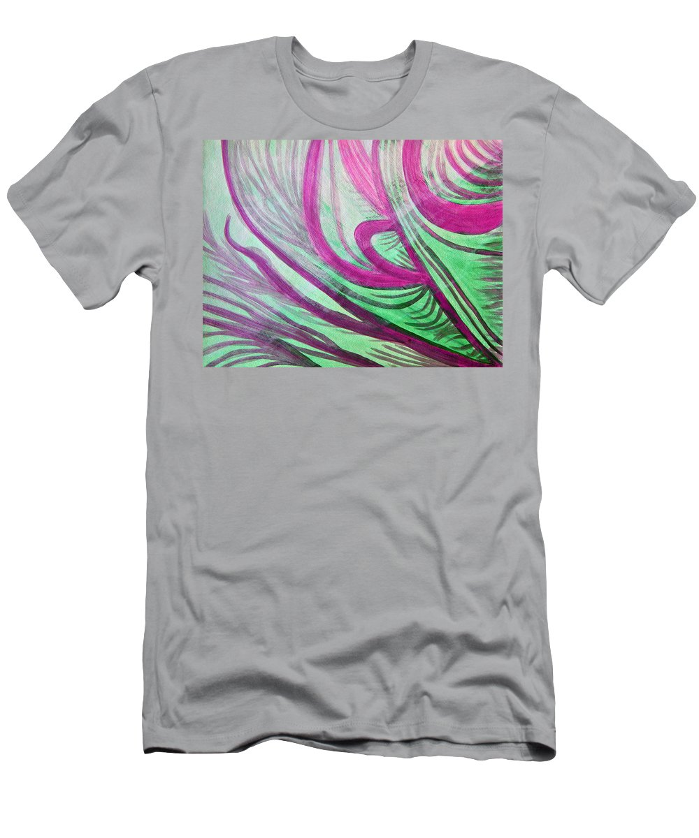 Art Men's T-Shirt (Athletic Fit) featuring the painting Healing Waves by Lee Serenethos