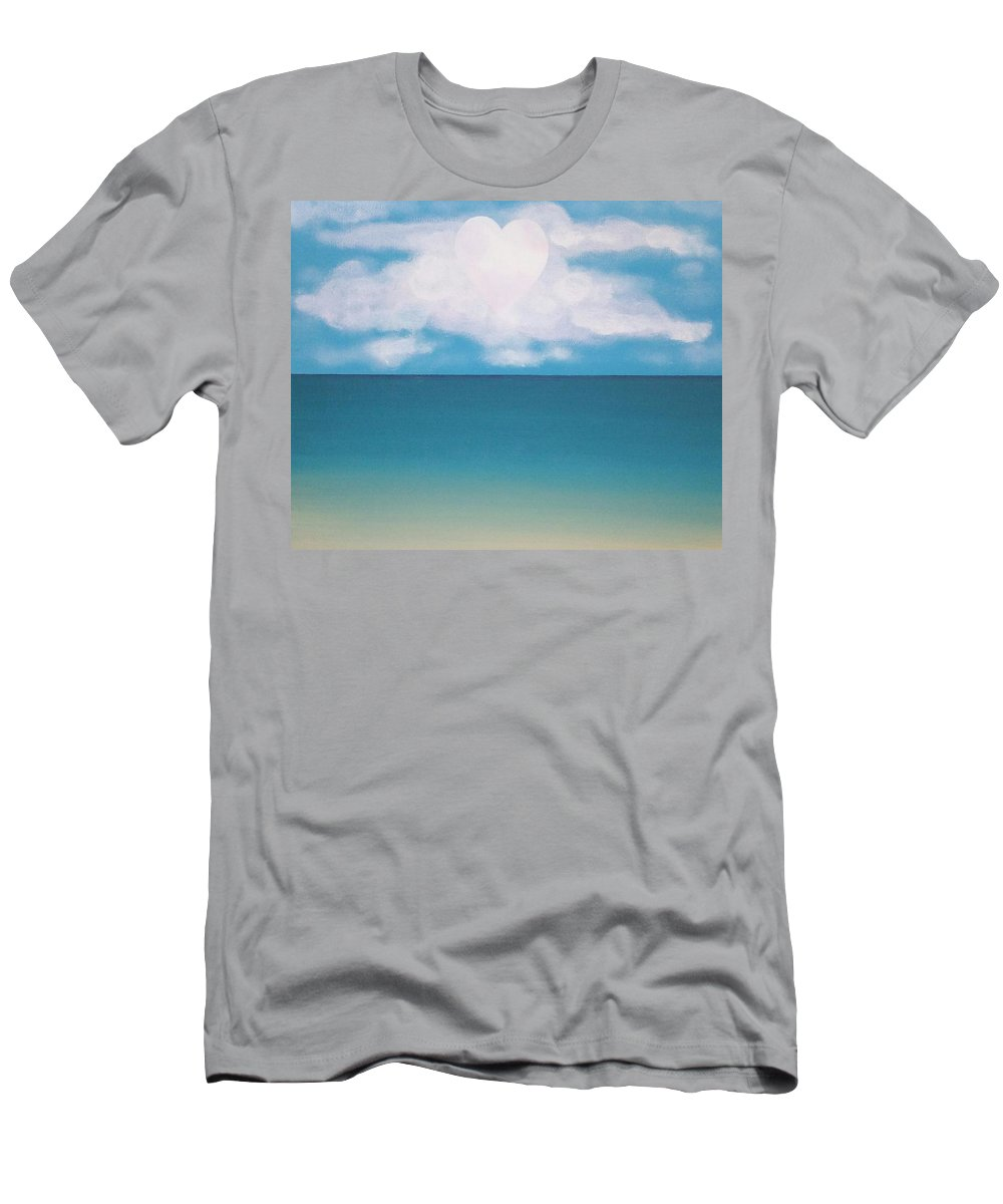 Heart Men's T-Shirt (Athletic Fit) featuring the painting Heart Moon by Dan Schepperly