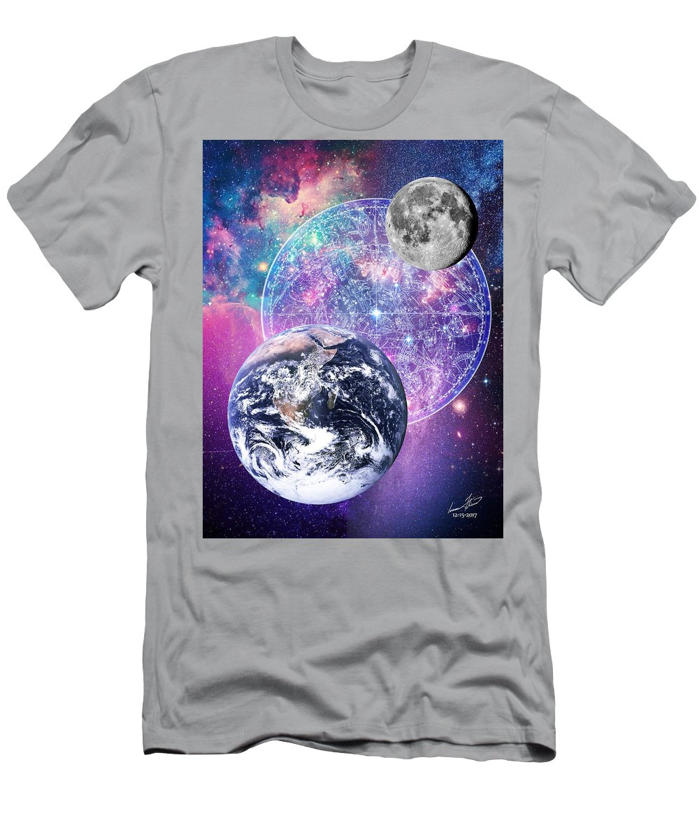 Heaven Men's T-Shirt (Athletic Fit) featuring the digital art Heavenly Bodies by Isaac Feliciano