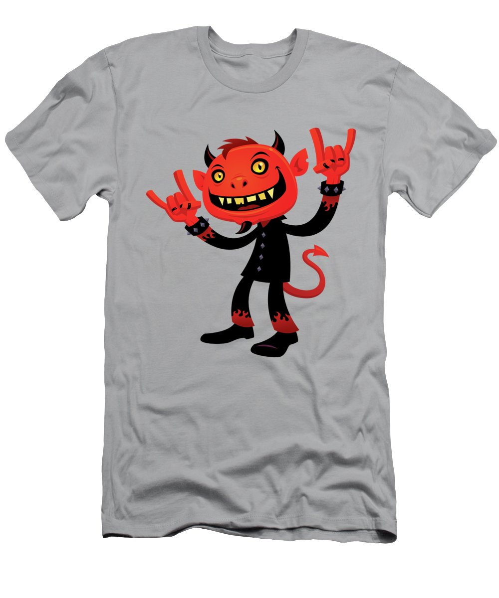 Heavy Metal T-Shirt featuring the digital art Heavy Metal Devil by John Schwegel