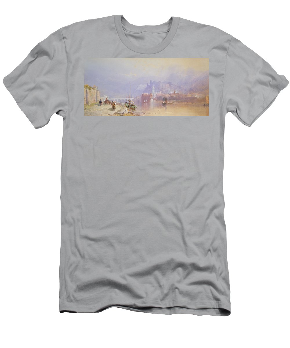 Heidelberg Men's T-Shirt (Athletic Fit) featuring the painting Heidelberg by Thomas Miles Richardson