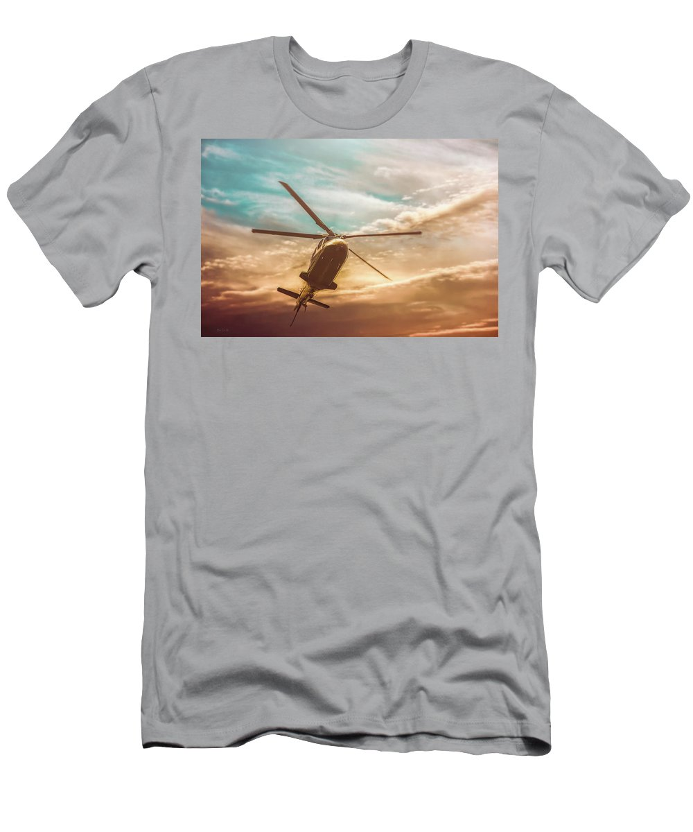 Aviation Men's T-Shirt (Athletic Fit) featuring the photograph Helicopter by Bob Orsillo