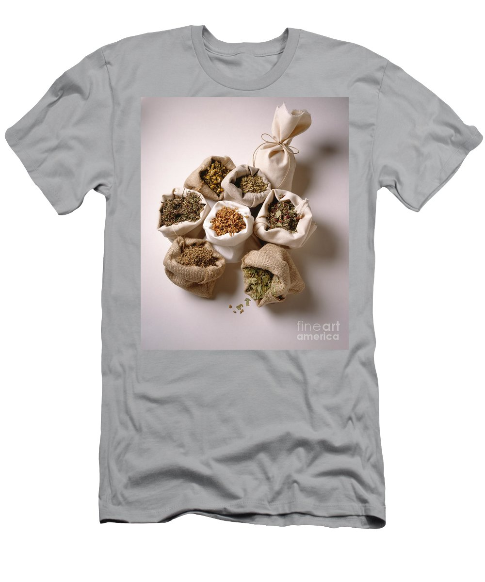 Composition Men's T-Shirt (Athletic Fit) featuring the photograph Herbal Teas And Seeds by Stefania Levi