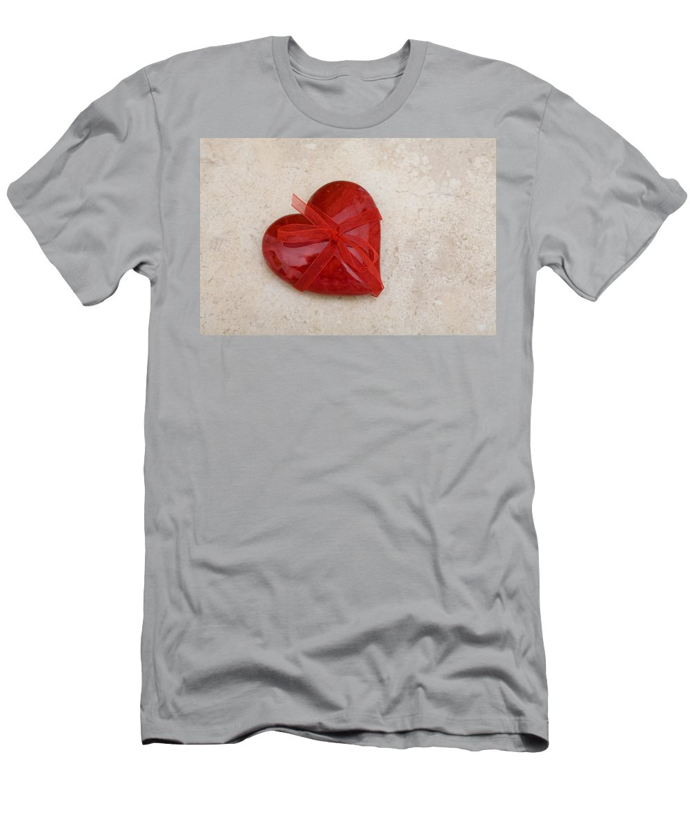 Heart Shape Men's T-Shirt (Athletic Fit) featuring the photograph Here's My Heart by Diane Macdonald