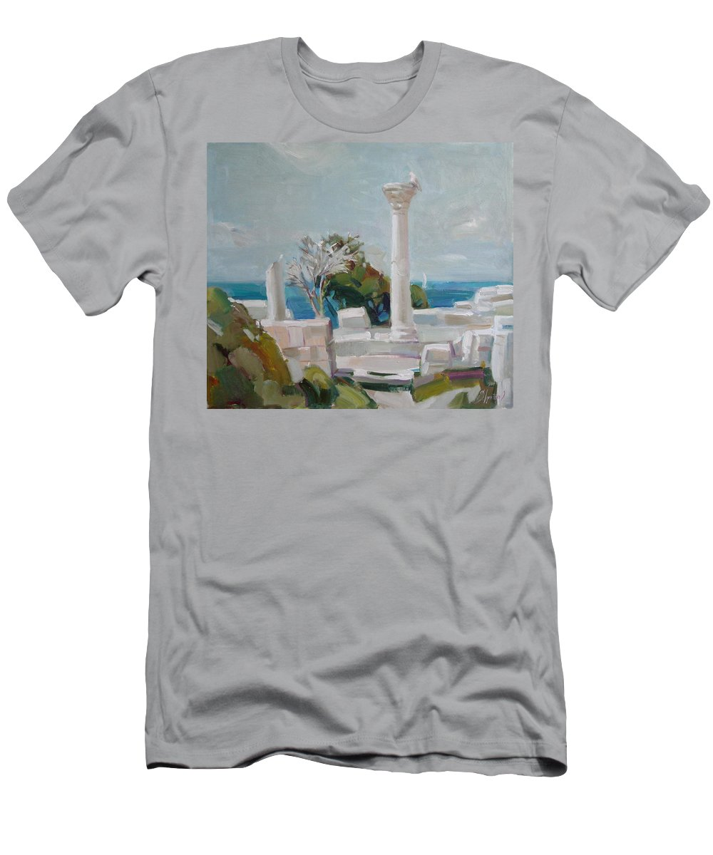 Ignatenko Men's T-Shirt (Athletic Fit) featuring the painting Hersoness by Sergey Ignatenko