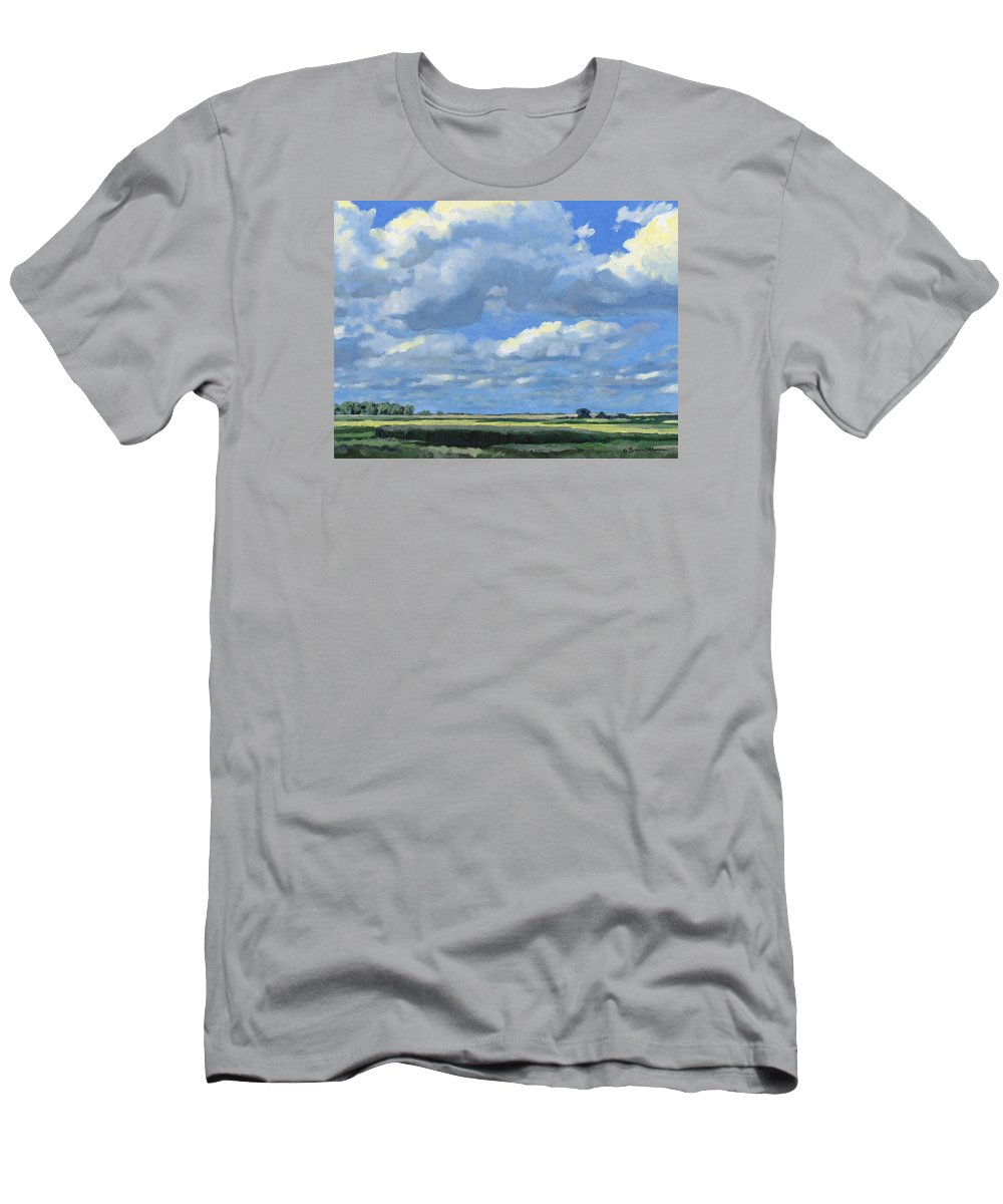 Landscape Men's T-Shirt (Athletic Fit) featuring the painting High Summer by Bruce Morrison