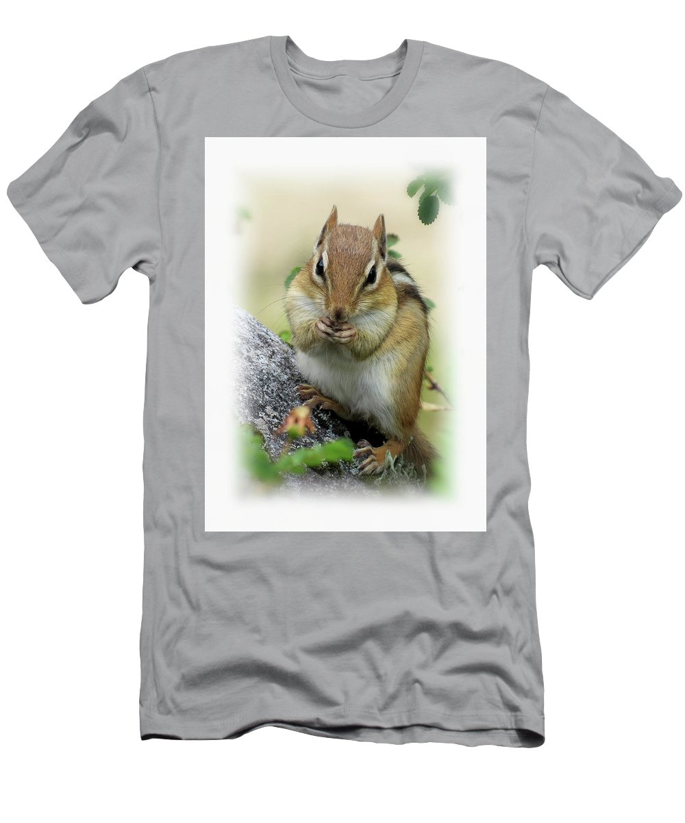 Chipmunk Men's T-Shirt (Athletic Fit) featuring the photograph Hippy Chip - Chipmunk - Vertical by MTBobbins Photography