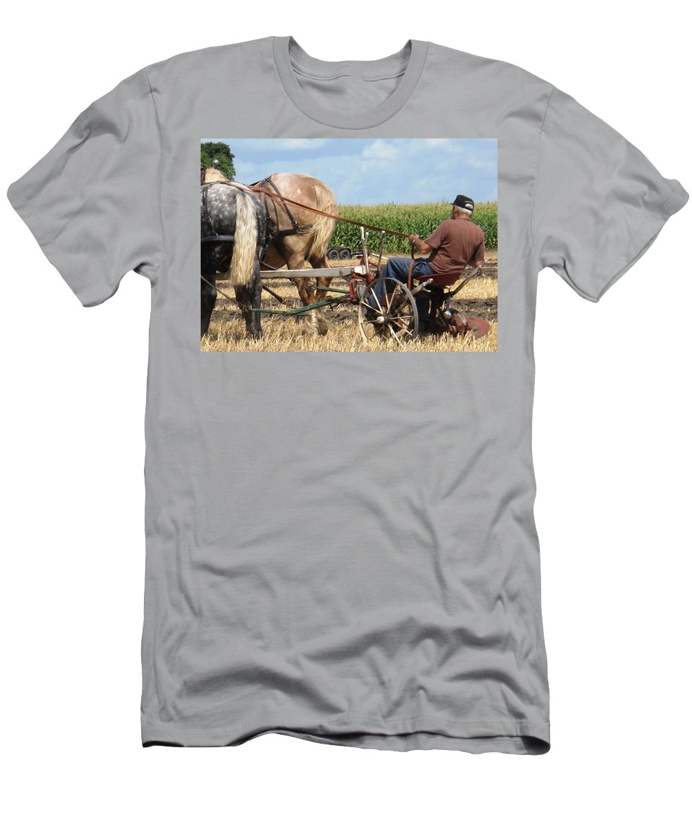 Horses Men's T-Shirt (Athletic Fit) featuring the photograph Hold Your Horses by Ian MacDonald