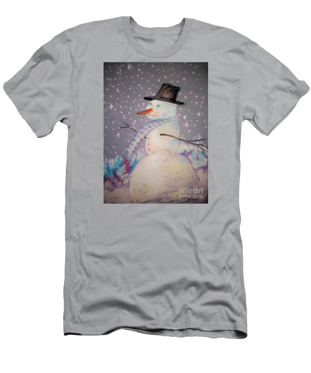 Christmas. Winter Men's T-Shirt (Athletic Fit) featuring the mixed media Holiday Magic by Sandra McClure
