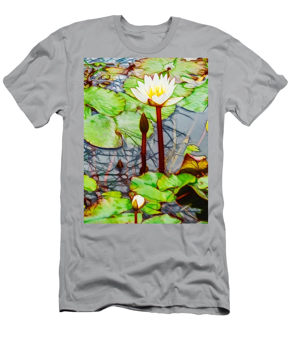 Lotus Men's T-Shirt (Athletic Fit) featuring the painting Honest by Jeelan Clark