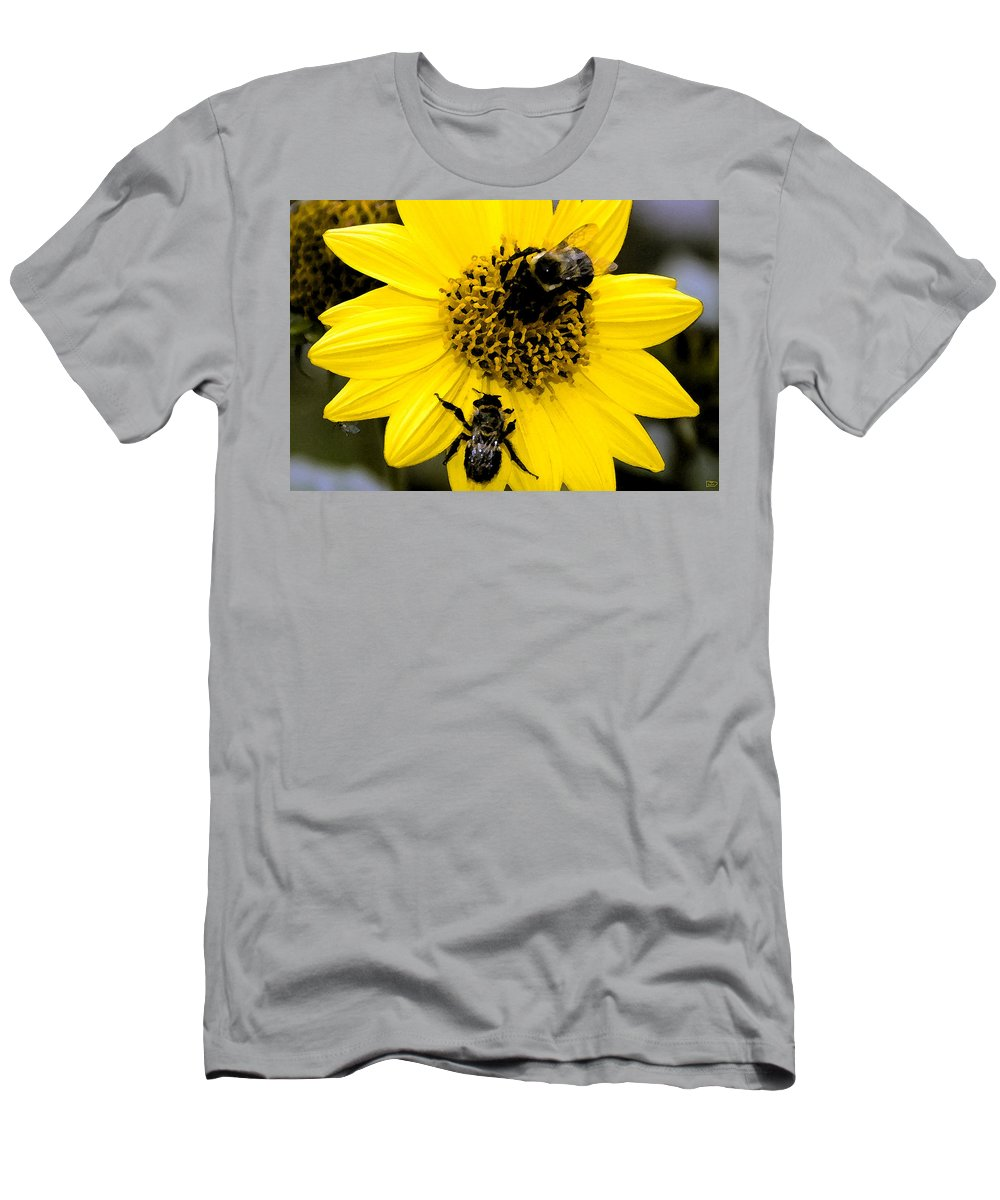 Honey Bees Men's T-Shirt (Athletic Fit) featuring the painting Honey Bees by David Lee Thompson