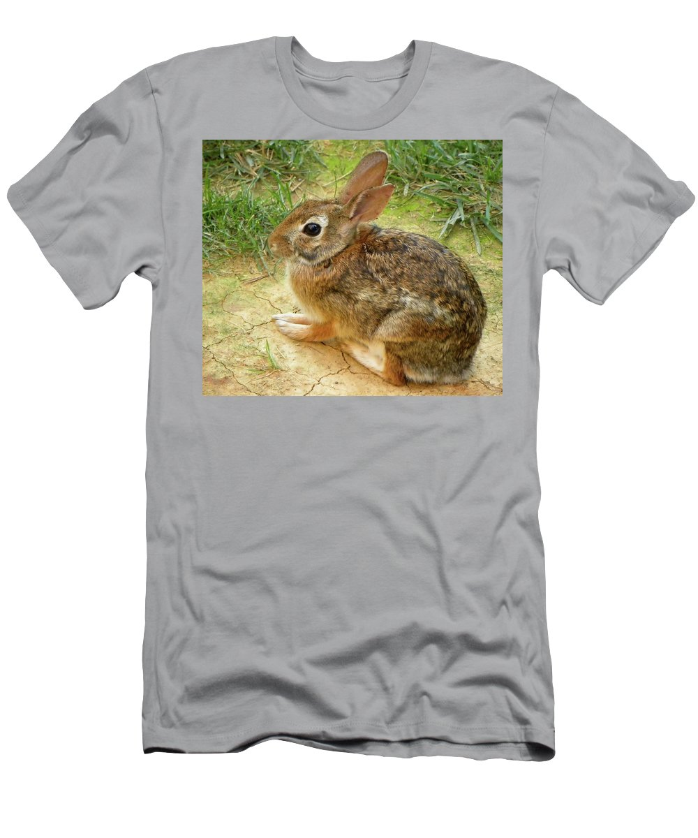 Rabbit Men's T-Shirt (Athletic Fit) featuring the photograph Hopalong by Sandi OReilly