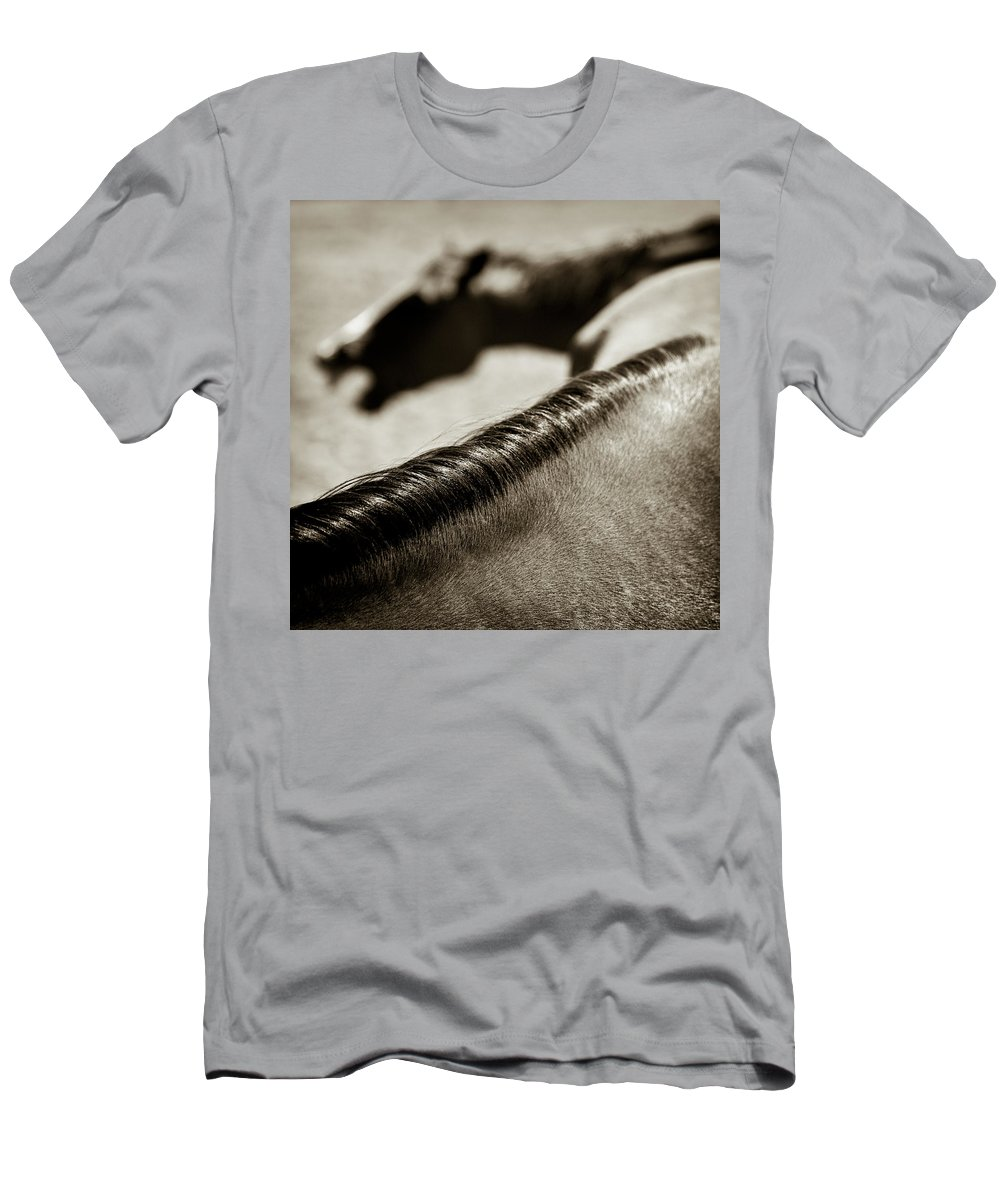 Horses Men's T-Shirt (Athletic Fit) featuring the photograph Horse Play by Dave Bowman