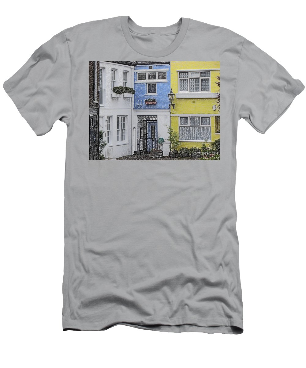 House Men's T-Shirt (Athletic Fit) featuring the photograph Houses by Amanda Barcon