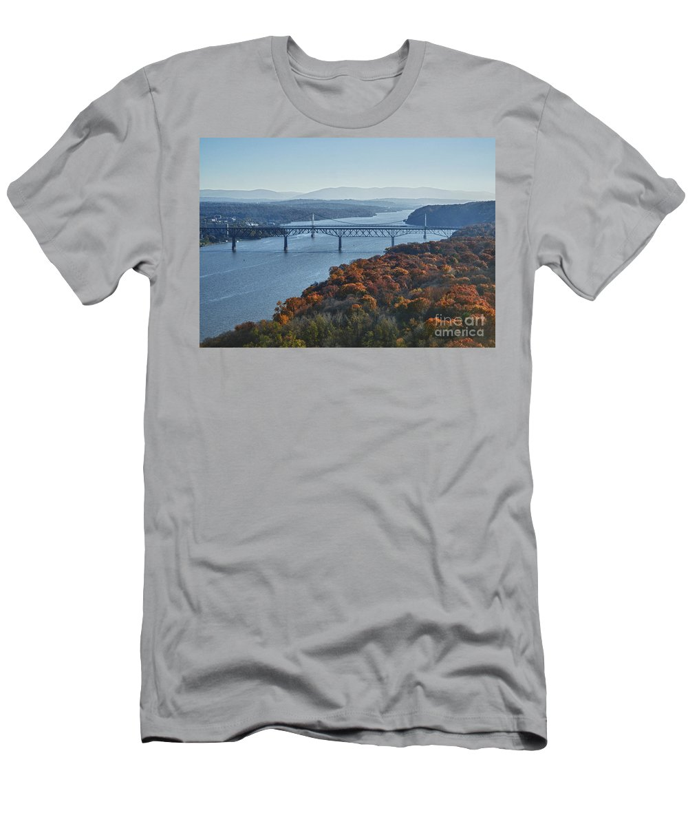 Hudson River Men's T-Shirt (Athletic Fit) featuring the photograph Hudson Valley by Claudia Kuhn