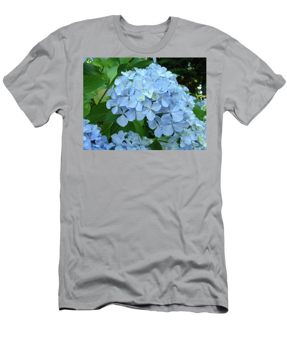 Landscape T-Shirt featuring the photograph HYDRANGEA Garden Art Prints Hydrangeas Flower Garden Baslee Troutman by Patti Baslee
