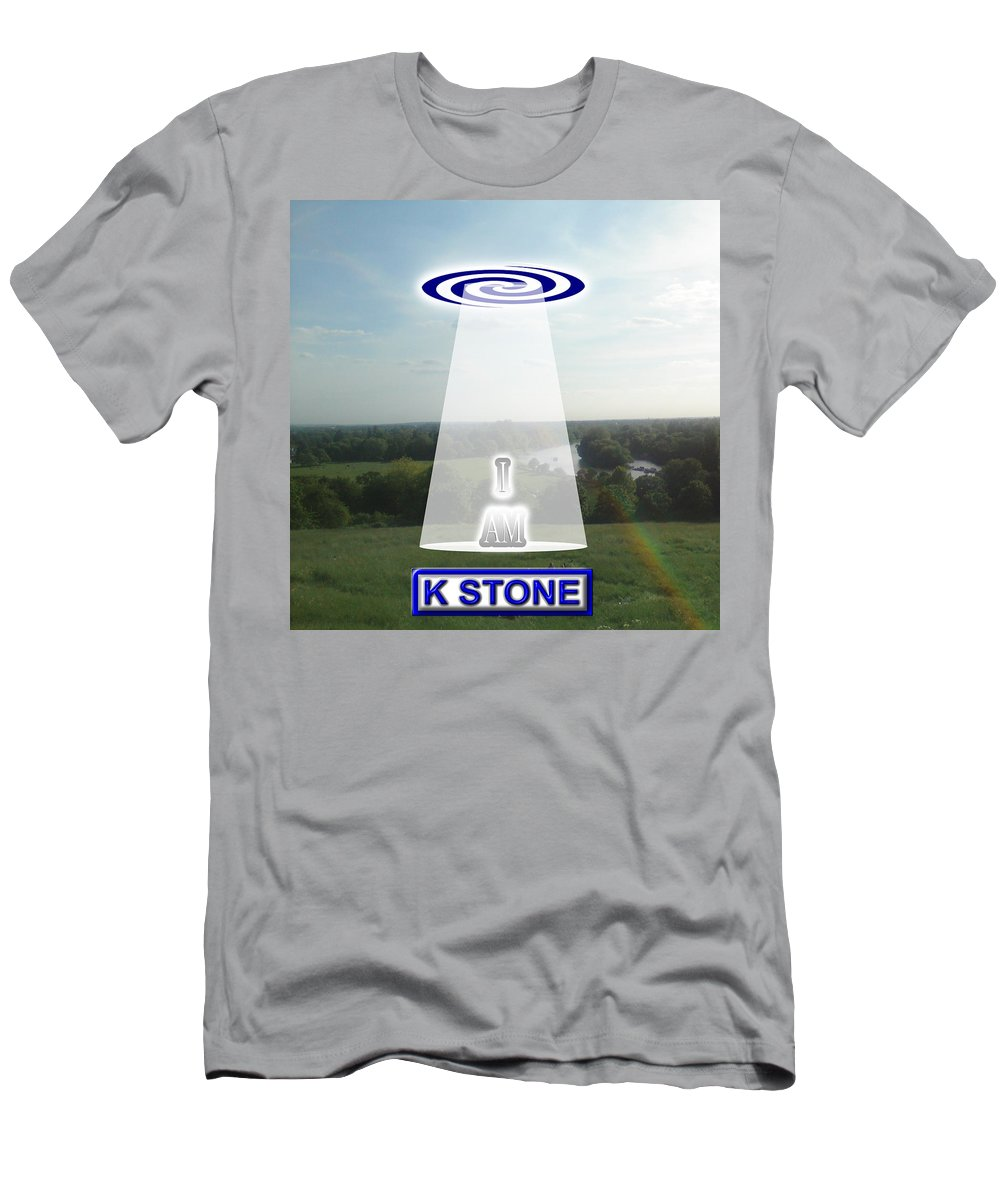 I Am Men's T-Shirt (Athletic Fit) featuring the digital art I Am by K STONE UK Music Producer