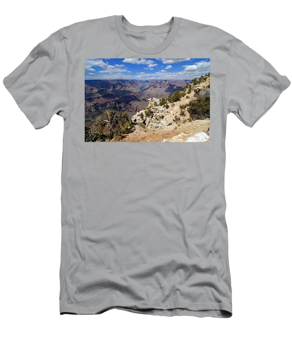 Grand Canyon National Park Men's T-Shirt (Athletic Fit) featuring the photograph I Can See For Miles And Miles - Grand Canyon by Larry Ricker