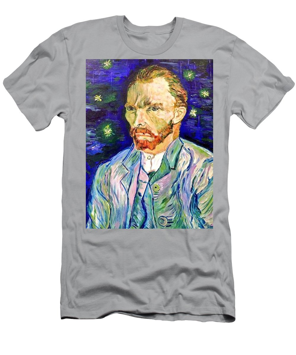 Vincent Van Gogh Men's T-Shirt (Athletic Fit) featuring the painting I Dream My Painting And I Paint My Dream by Belinda Low