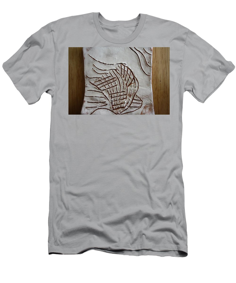 Jesus Men's T-Shirt (Athletic Fit) featuring the ceramic art I Have A Dream - Tile by Gloria Ssali