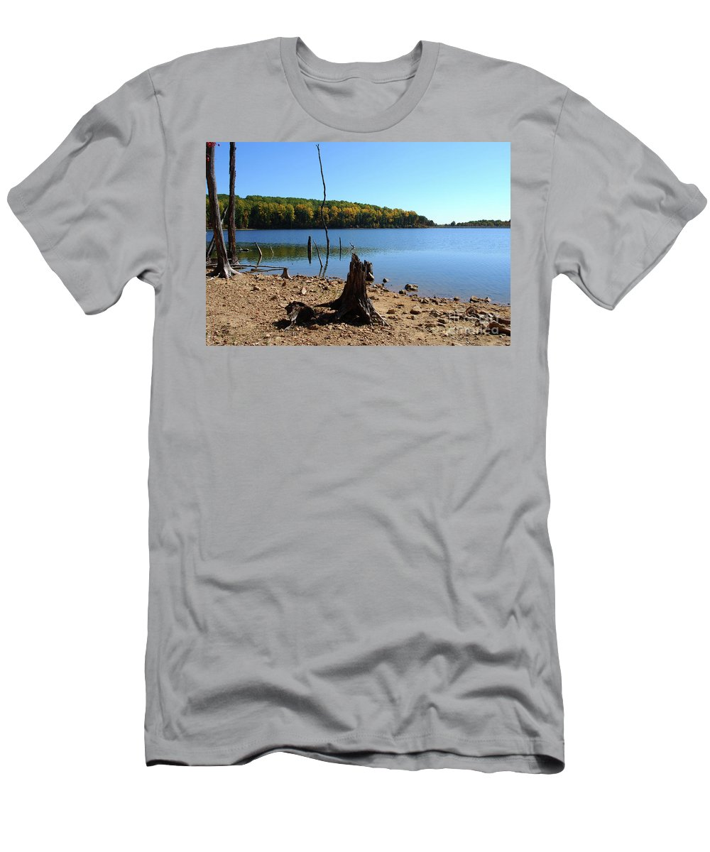 Waterscape Men's T-Shirt (Athletic Fit) featuring the photograph I Used To Be A Tree by Lori Tambakis