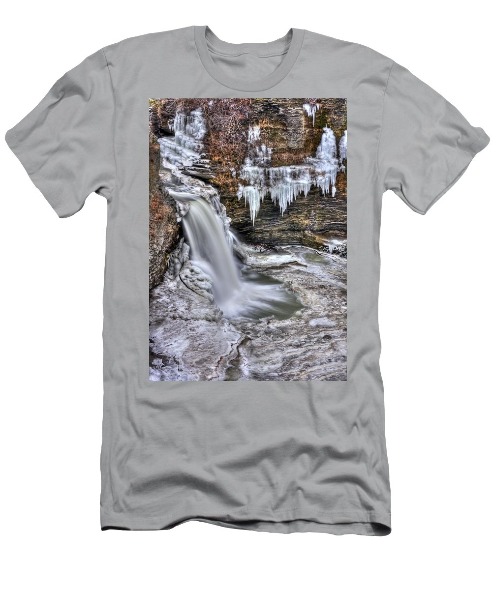 Ice Men's T-Shirt (Athletic Fit) featuring the photograph Ice Breaker by Evelina Kremsdorf