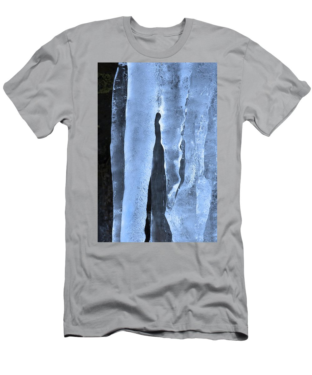 Icicle Men's T-Shirt (Athletic Fit) featuring the photograph Ice Sculpture by Mike Dawson