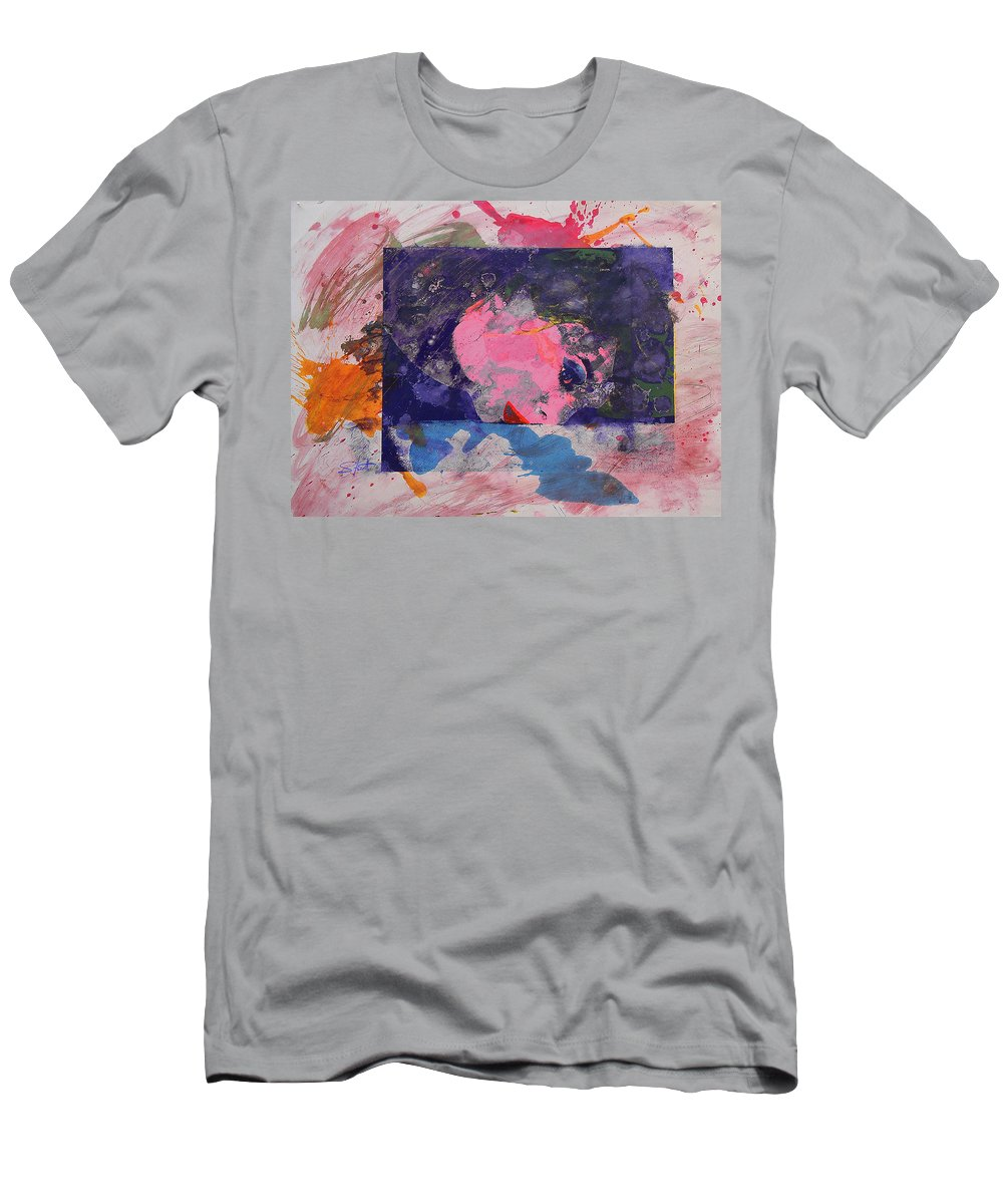 Psycho Men's T-Shirt (Athletic Fit) featuring the painting Iconoclasm 4 by Charles Stuart