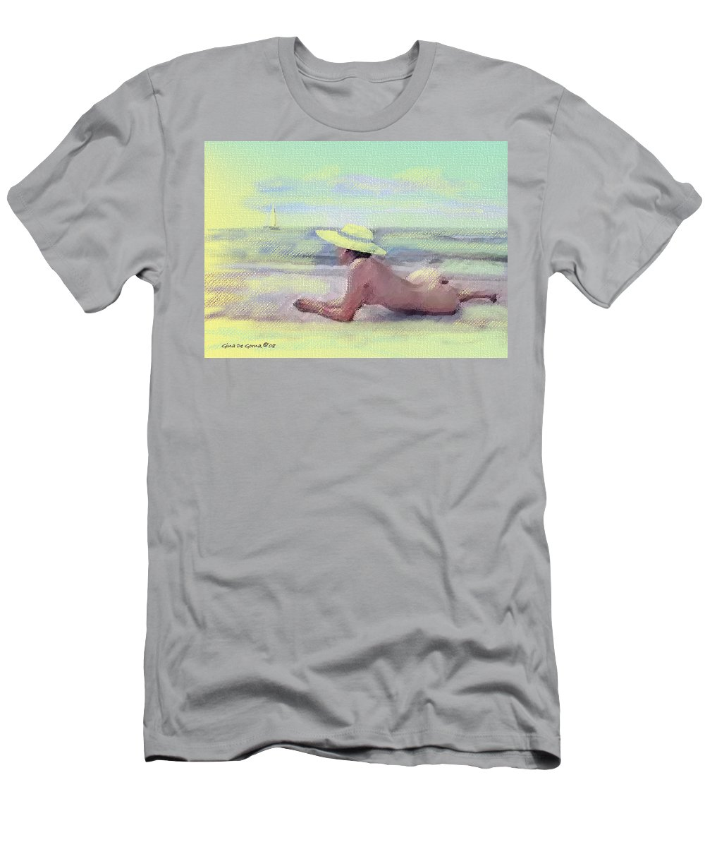 Original Art Men's T-Shirt (Athletic Fit) featuring the pastel Imagine by Gina De Gorna