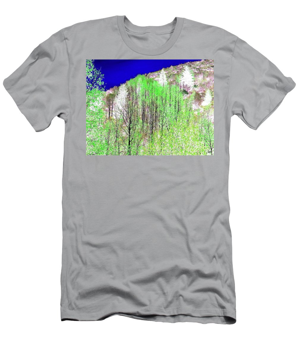 Impressions Men's T-Shirt (Athletic Fit) featuring the digital art Impressions 12 by Will Borden