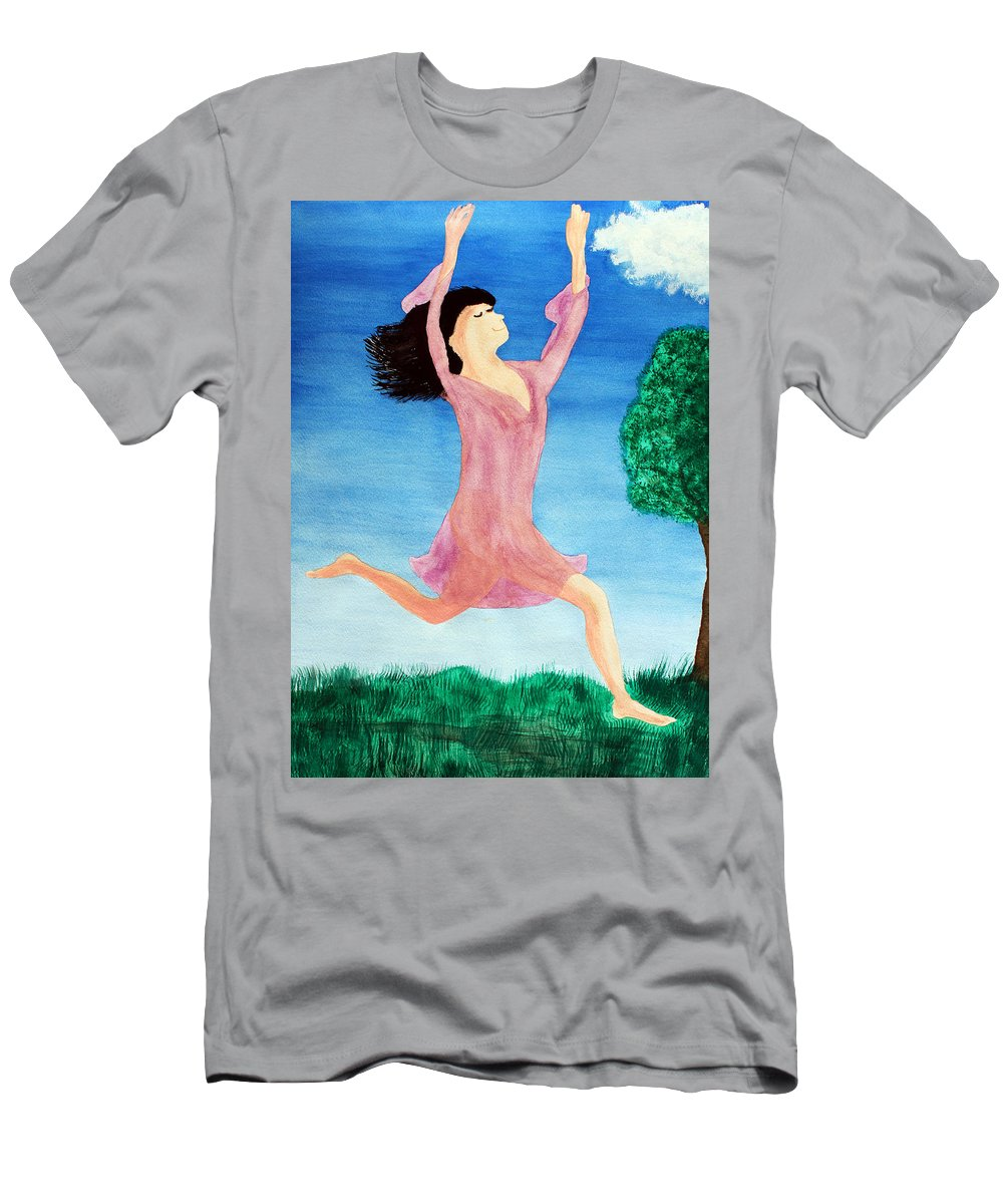 Adult Men's T-Shirt (Athletic Fit) featuring the painting In Between Heaven And Earth by Lee Serenethos