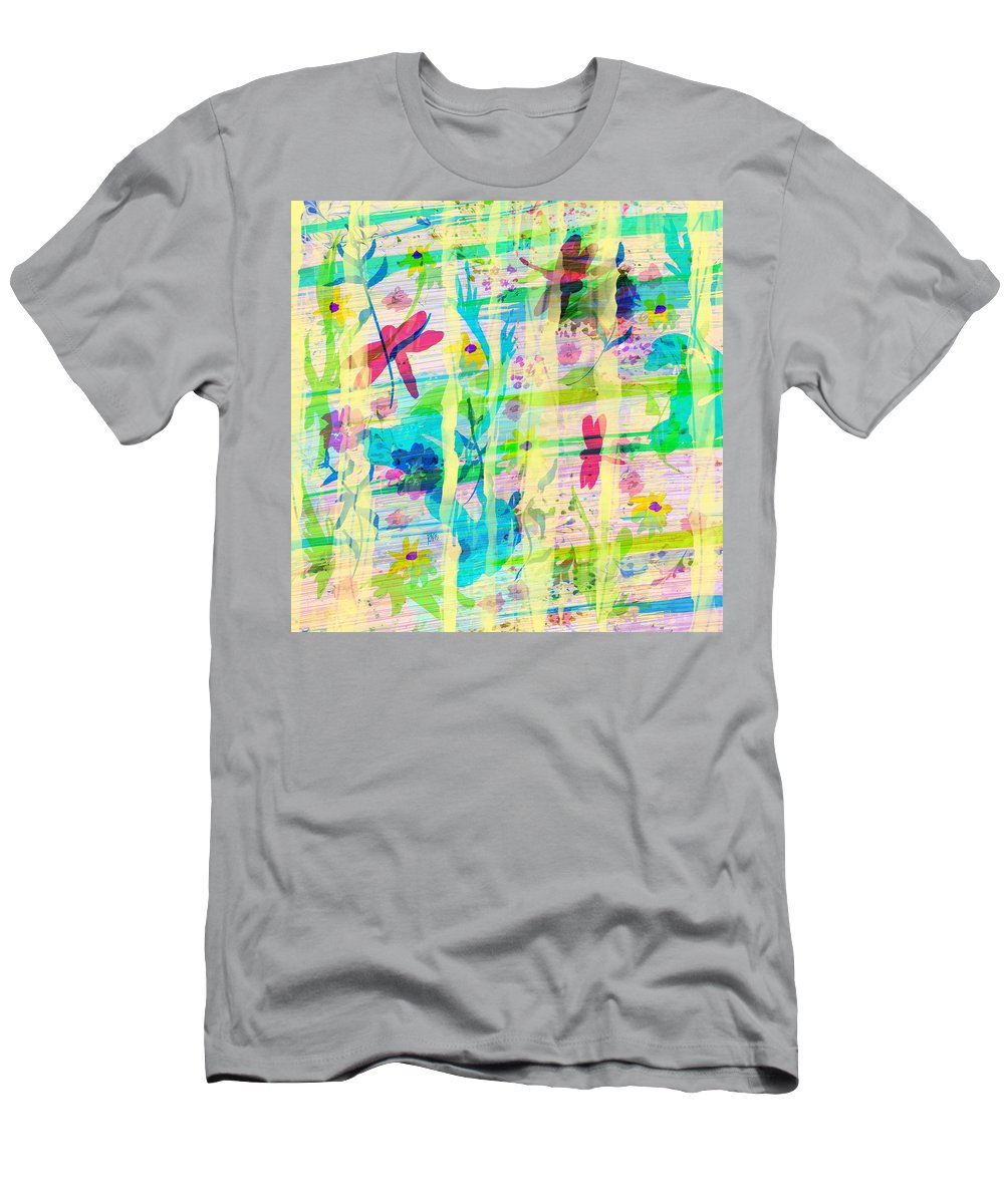 Abstract Men's T-Shirt (Athletic Fit) featuring the digital art In The Garden by Rachel Christine Nowicki