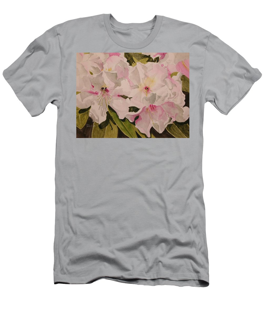Pink Men's T-Shirt (Athletic Fit) featuring the painting In The Pink by Jean Blackmer