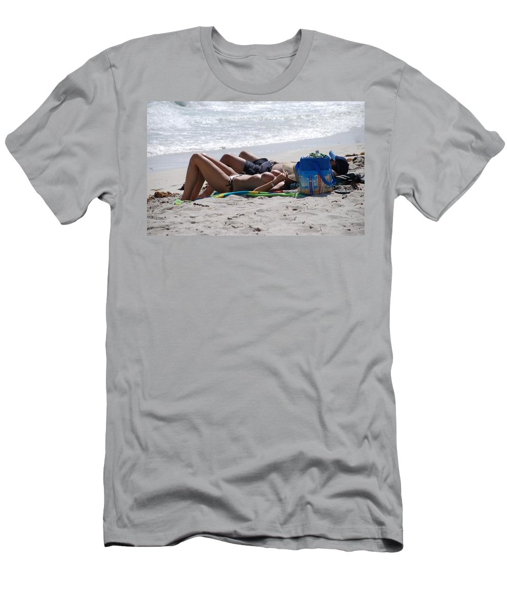 Nude Men's T-Shirt (Athletic Fit) featuring the photograph In The Sand At Paradise Beach by Rob Hans