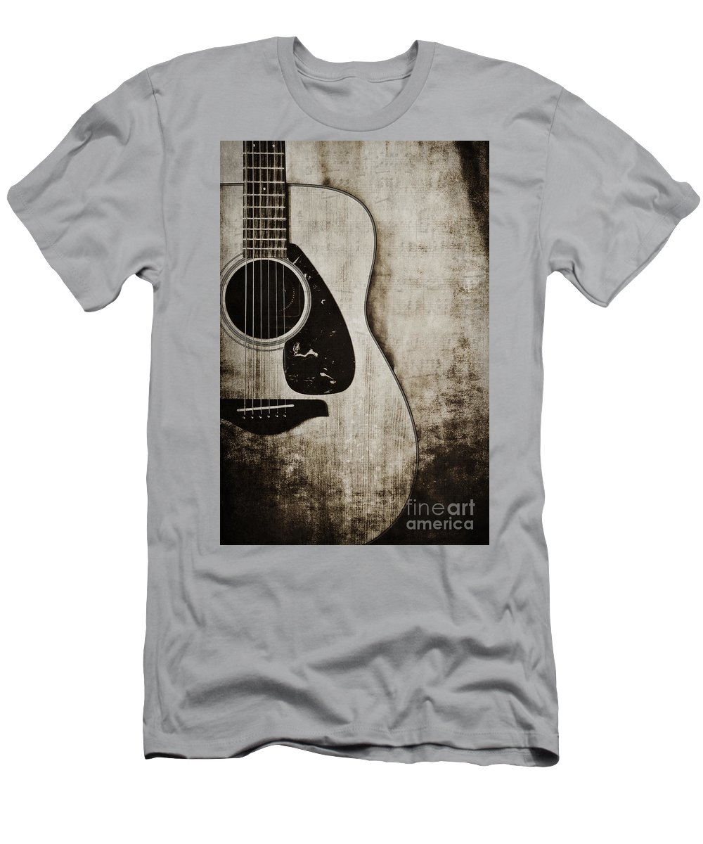 Guitar Men's T-Shirt (Athletic Fit) featuring the photograph In Tune by Emily Kay