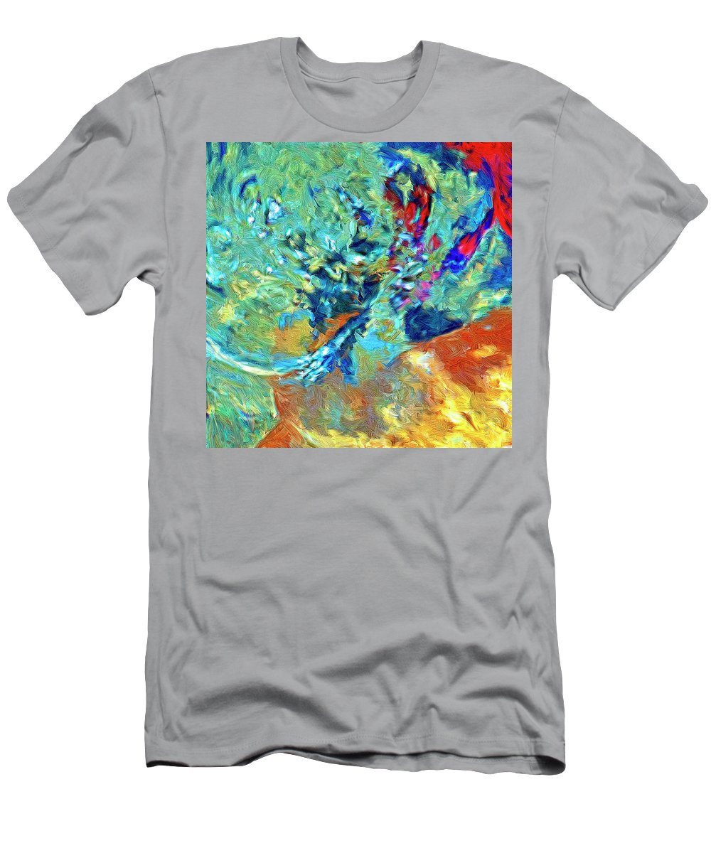 Abstract Men's T-Shirt (Athletic Fit) featuring the painting Incursion by Dominic Piperata