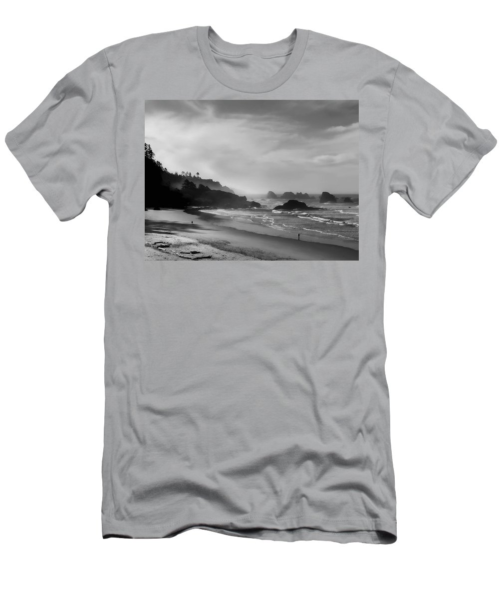 oregon Coast Men's T-Shirt (Athletic Fit) featuring the photograph Indian Point Beach - Oregon Coast by Daniel Hagerman