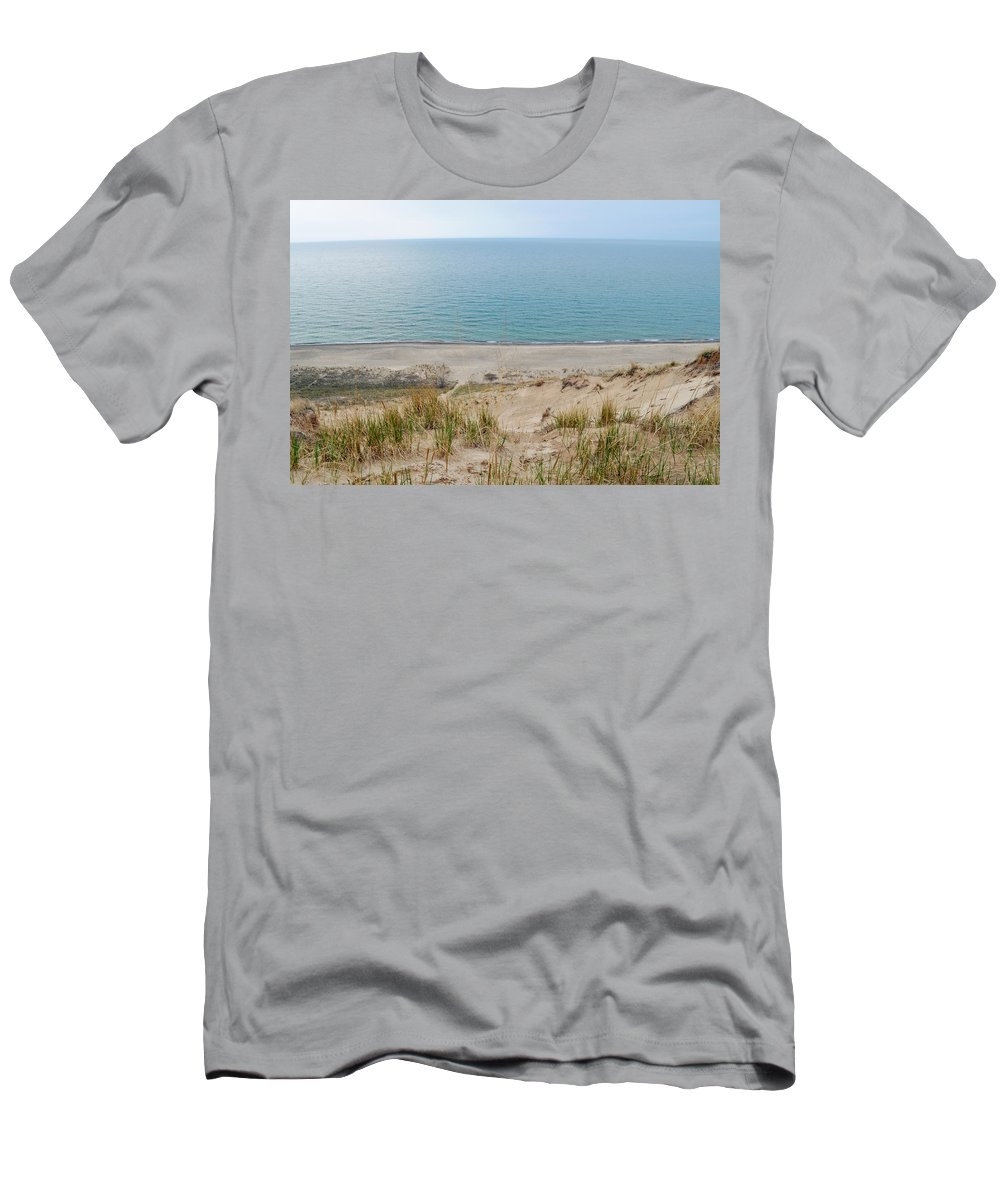 Indiana Dunes National Lakeshore Men's T-Shirt (Athletic Fit) featuring the photograph Indiana Dunes National Lakeshore Evening by Kyle Hanson