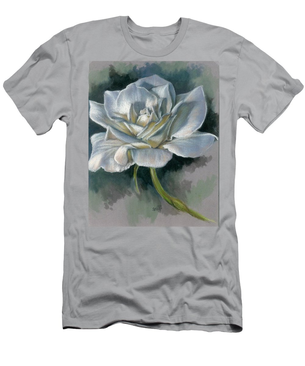 Rose Men's T-Shirt (Athletic Fit) featuring the mixed media Innocence by Barbara Keith