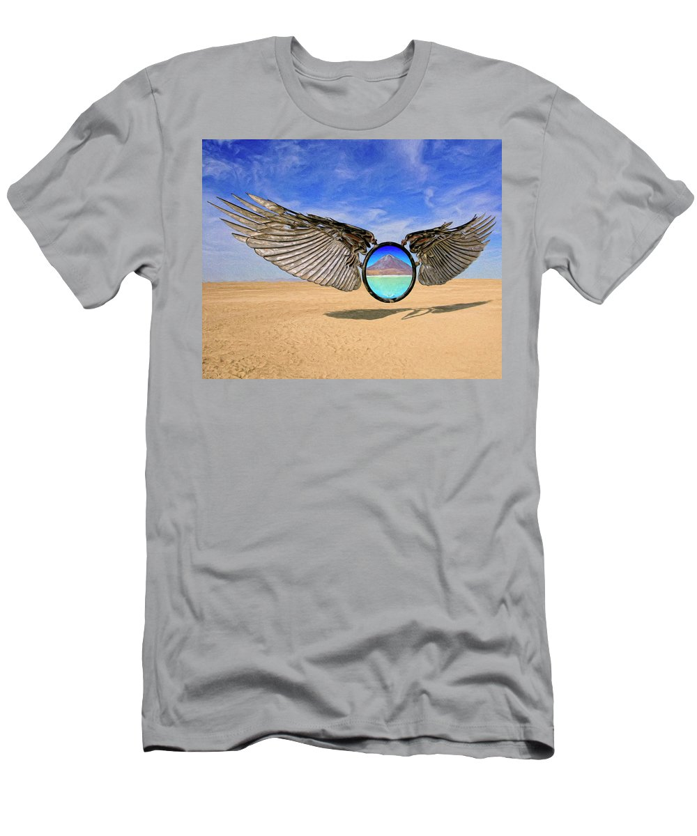 Wings Men's T-Shirt (Athletic Fit) featuring the painting Intervention by Dominic Piperata