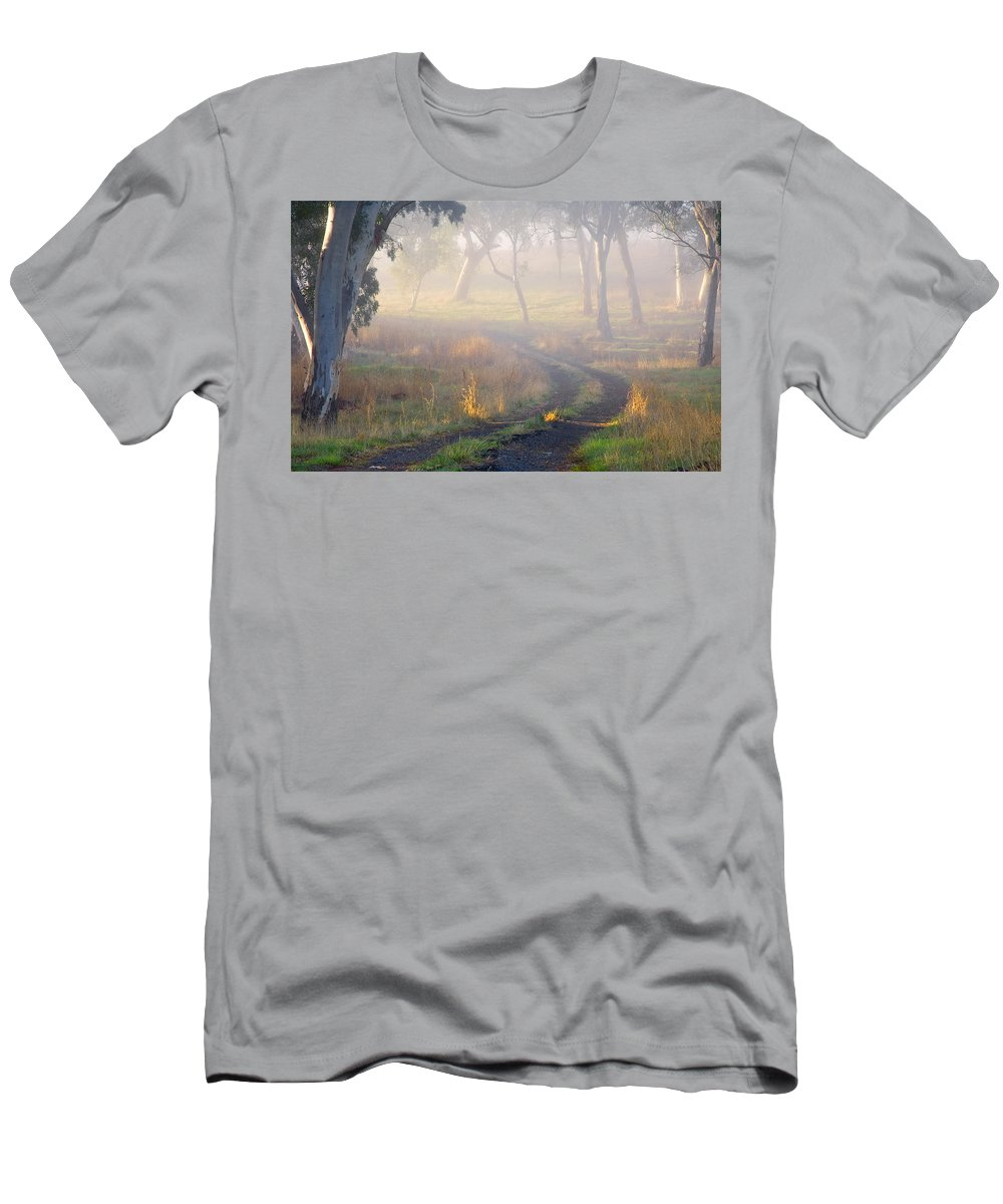 Mist Men's T-Shirt (Athletic Fit) featuring the photograph Into The Mist by Mike Dawson