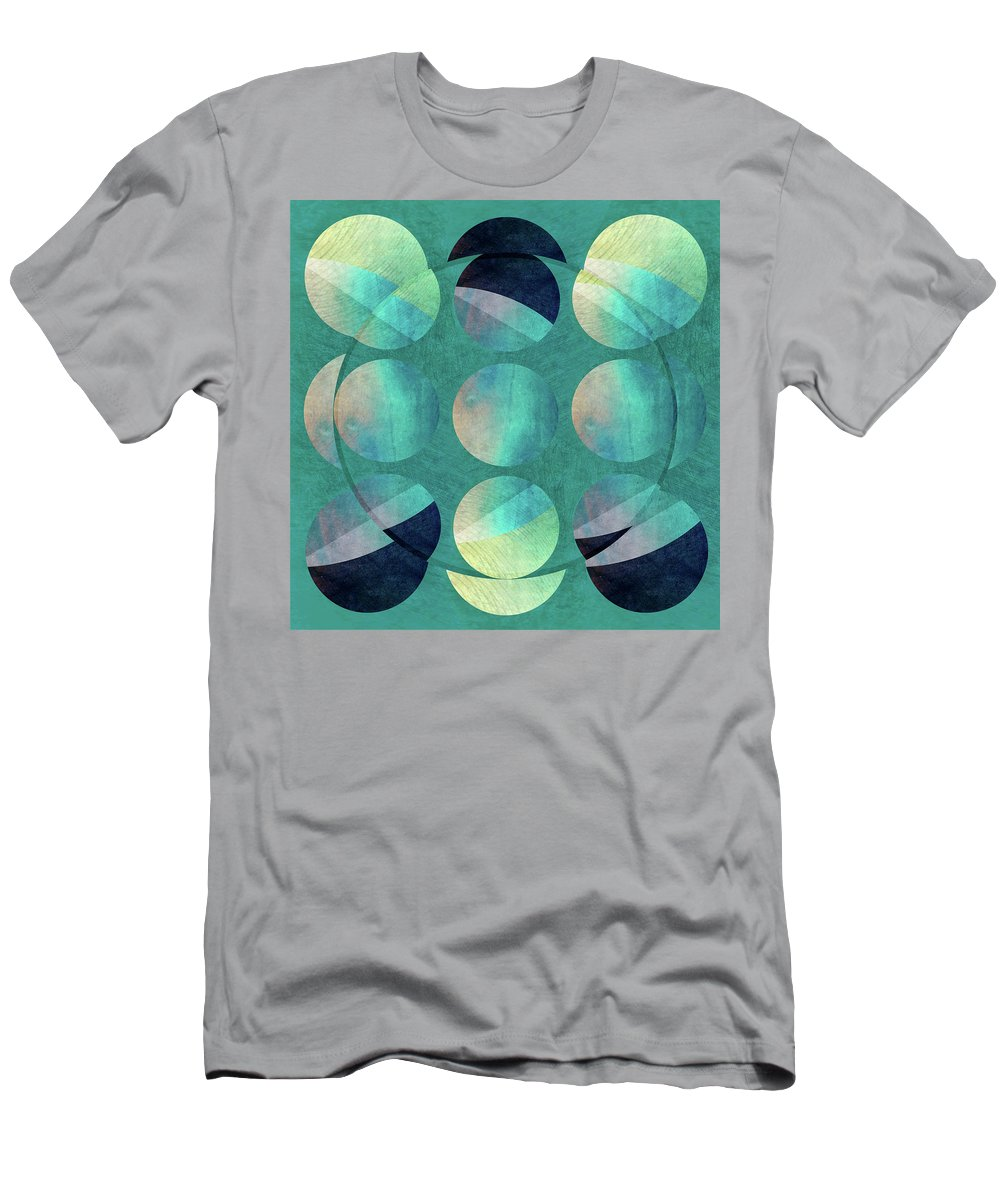 Abstract Men's T-Shirt (Athletic Fit) featuring the digital art Inversion by Aurora Art