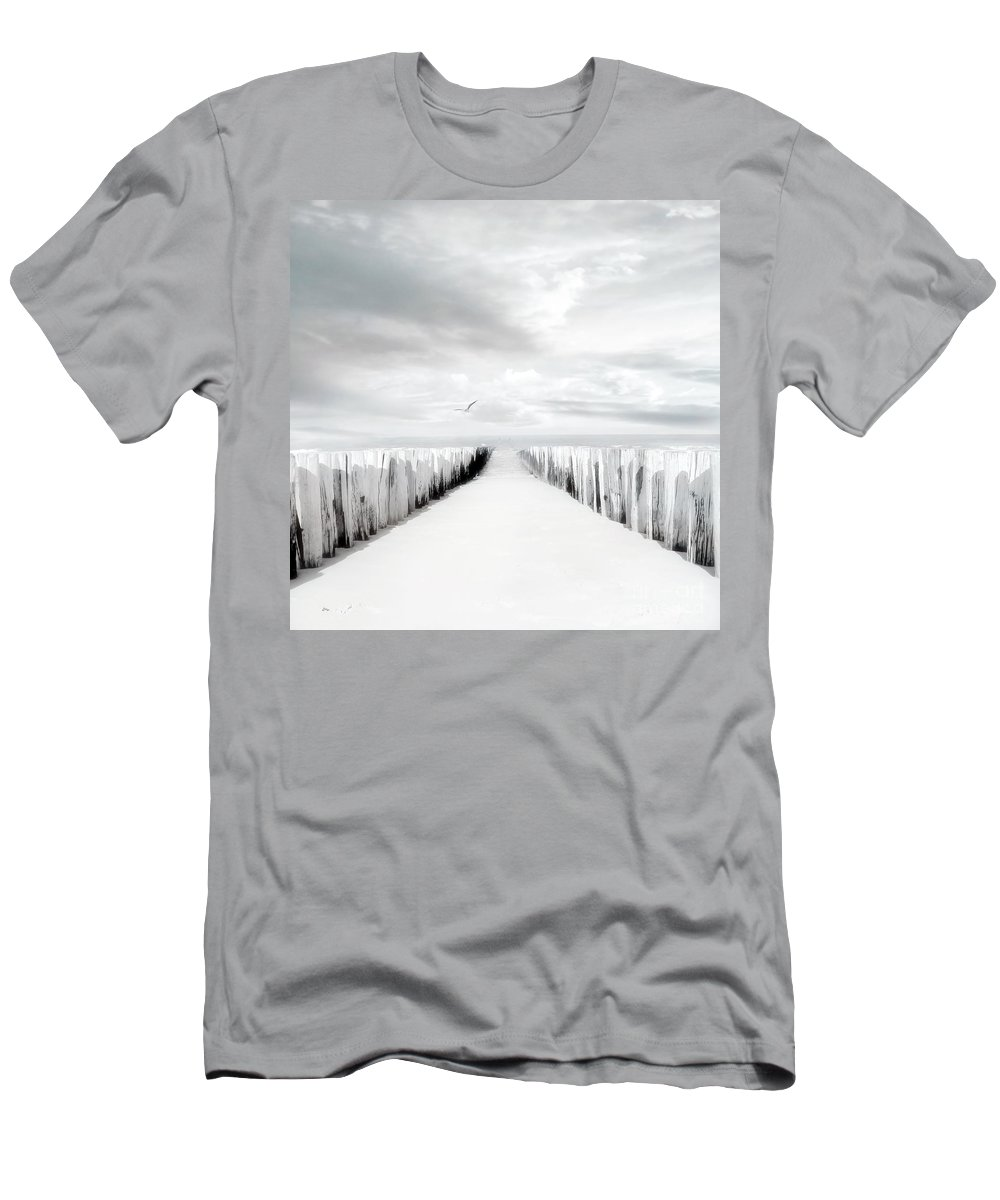 Beach Men's T-Shirt (Athletic Fit) featuring the photograph Inviting by Jacky Gerritsen