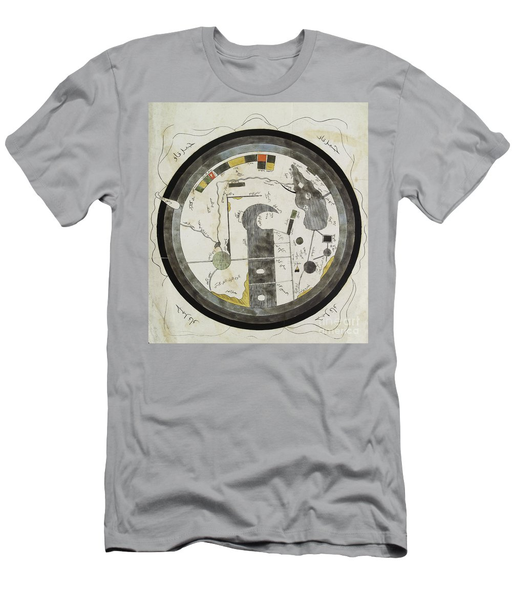 Historic Men's T-Shirt (Athletic Fit) featuring the photograph Islamic World Map, 10th Century by Wellcome Images