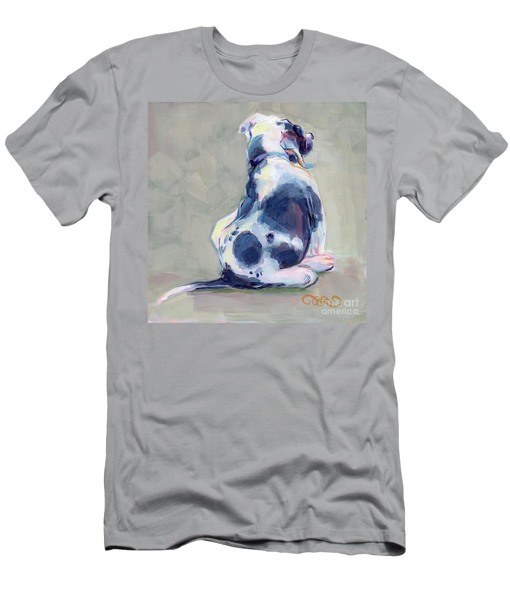 Black And White Men's T-Shirt (Athletic Fit) featuring the painting Itch by Kimberly Santini