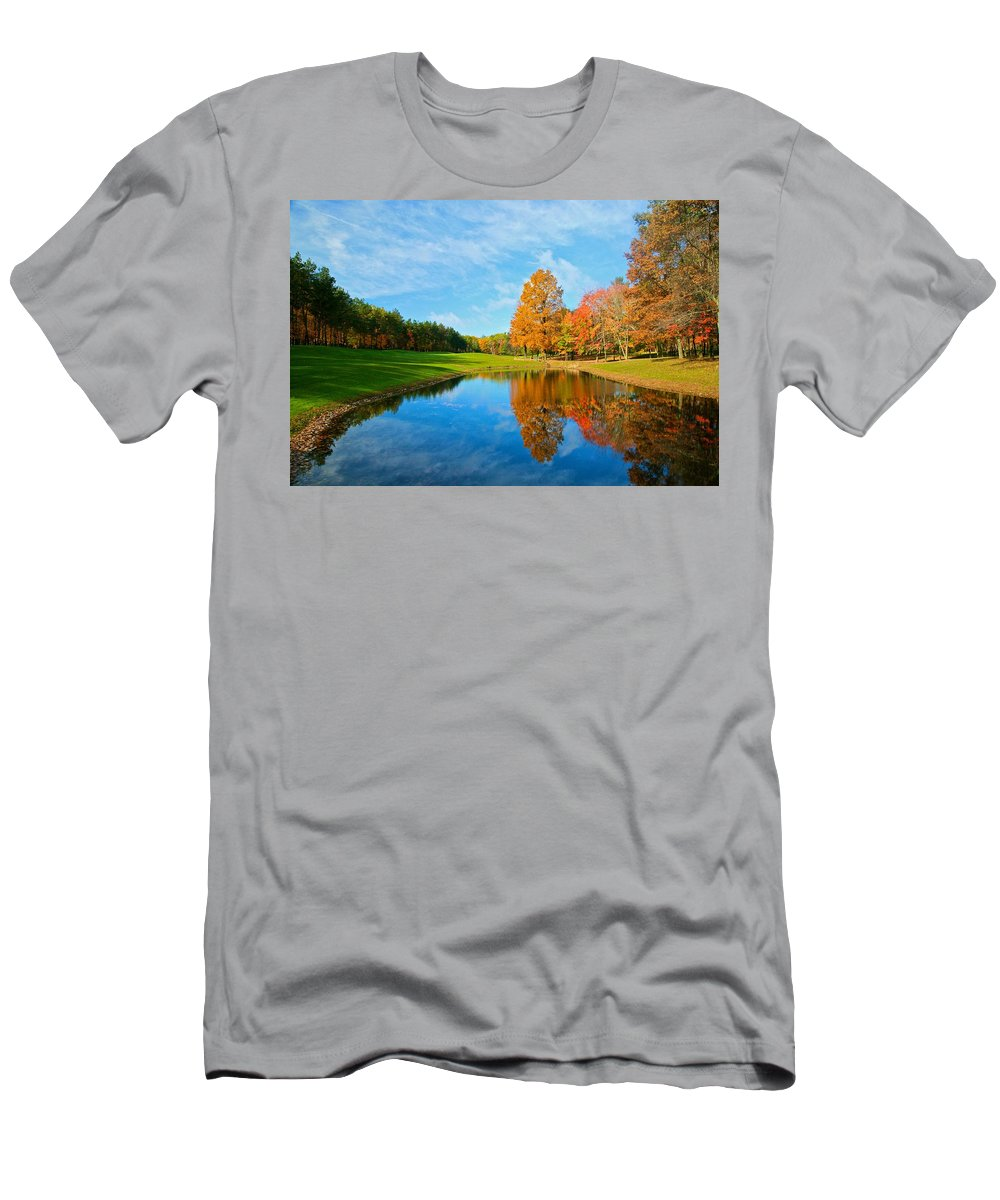 Flower Big Men's T-Shirt (Athletic Fit) featuring the photograph Its A Fall Thing by Robert Pearson