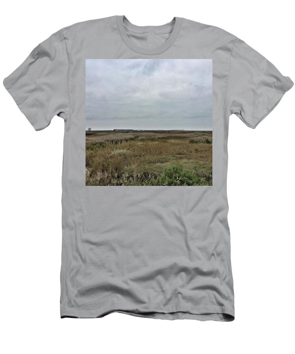 Natureonly T-Shirt featuring the photograph It's A Grey Day In North Norfolk Today by John Edwards