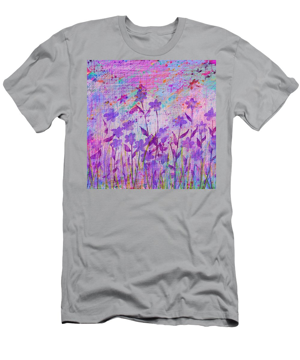 Abstract Men's T-Shirt (Athletic Fit) featuring the digital art It's A Wild World by Rachel Christine Nowicki