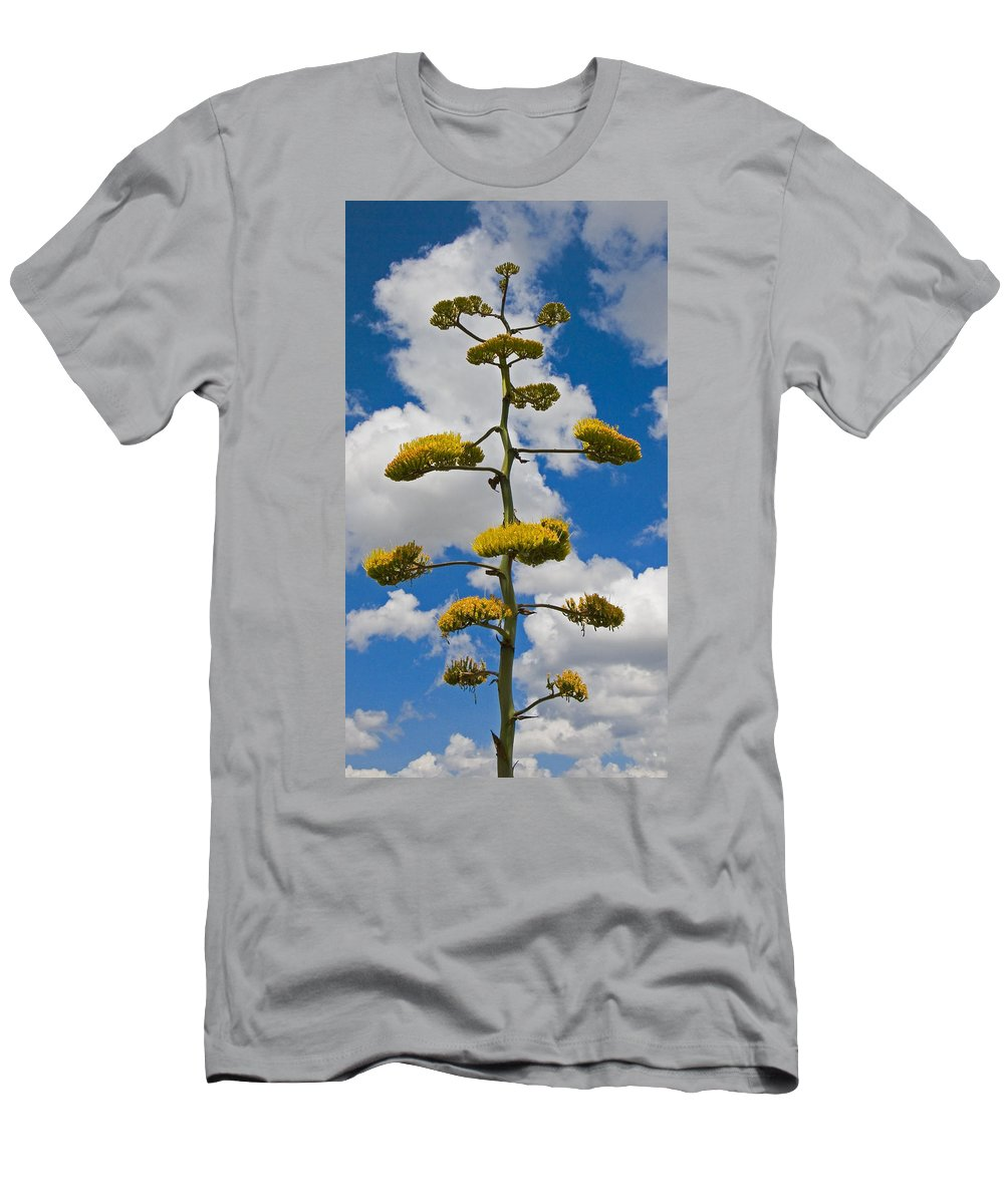 Blue Men's T-Shirt (Athletic Fit) featuring the photograph Jacobs Ladder by Skip Hunt