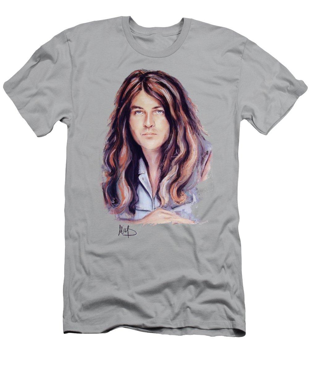 Jan Gillan Men's T-Shirt (Athletic Fit) featuring the pastel Jan Gillan by Melanie D